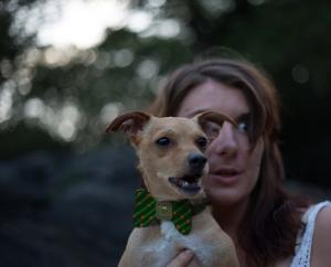 Fabulously Awkward Girl and Schubert; Liz and Dog