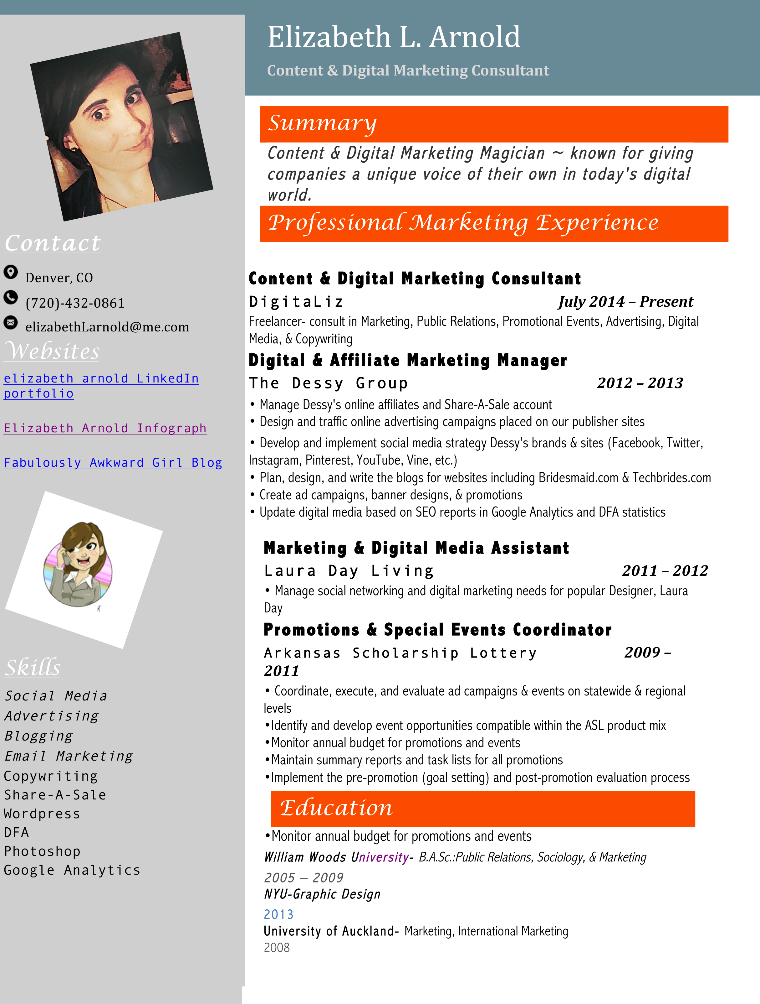 Resume Digital Media  Communications Director Resume