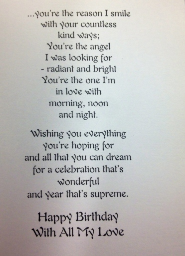 You're the reason I smile- birthday card at Pathmark