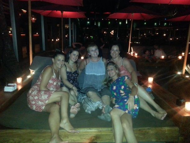 Bali- I laid in a bed with these ladies and had a martini