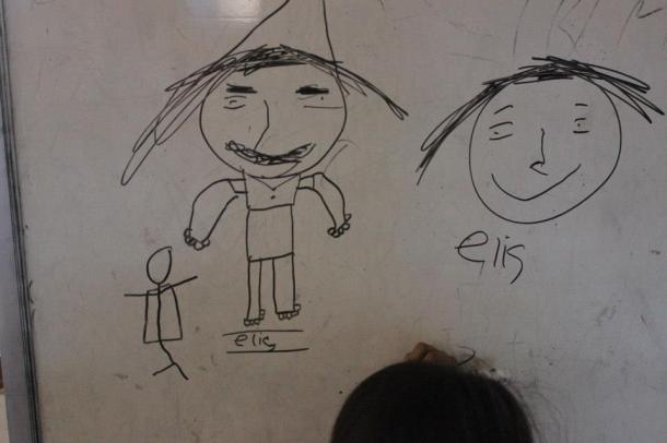 Bali- a portrait of me was drawn that resembled an ugly man with a bad mustache