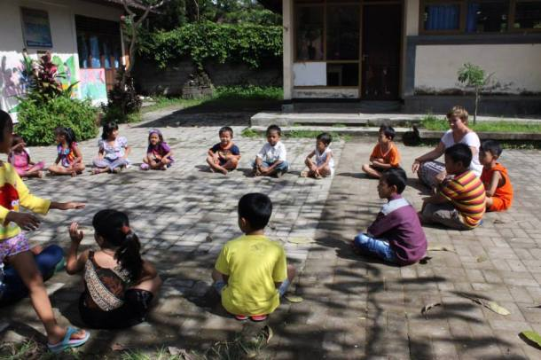 Bali- I played duck-duck-goose