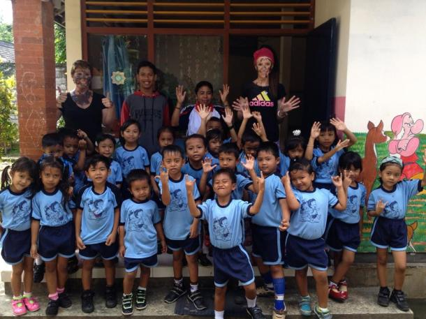 Bali- these kids attacked me with paint