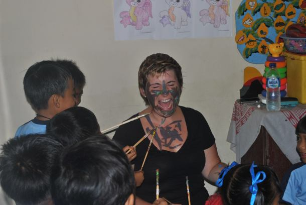 Bali- I was attacked by children with paint