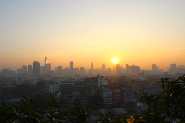 Thailand- the sun came up in Bangkok