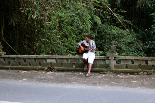 Bali- Leo played guitar