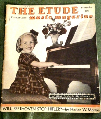 Music, Magazine, Vintage, Strange, Funny, Design, Shabby Chic, piano, creepy, weird