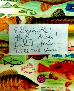 autograph, willandgrace, funny, bright, fish, birthday