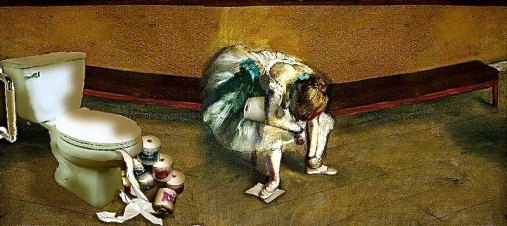 Edgar Degas, Impressionist, Realist, Toilet Paper, Funny,