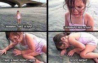 nap, little girl, children, go home, wasted